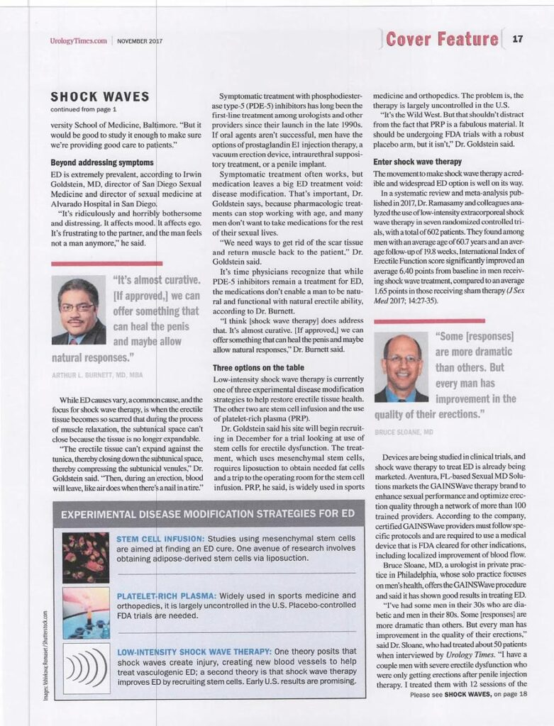 Urology Times Feature Story